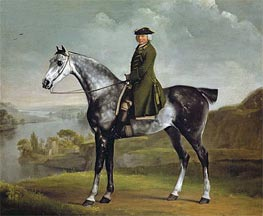 Joseph Smyth Esquire, Lieutenant of Whittlebury Forest, Northamptonshire, on a Dapple Grey Horse | George Stubbs | Gemälde Reproduktion