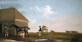 Gimcrack on Newmarket Heath with a Trainer, a Stable-Lad and a Jockey, 1765 von George Stubbs | Gemälde-Reproduktion