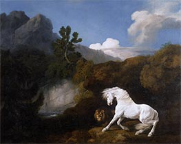A Horse frightened by a Lion | George Stubbs | Painting Reproduction