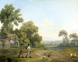 Two Gentlemen Going a Shooting | George Stubbs | Painting Reproduction