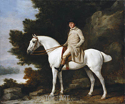 A Gentleman on a Grey Horse, 1781 | George Stubbs | Painting Reproduction