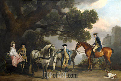 The Milbanke and Melbourne Families, c.1769 | George Stubbs | Painting Reproduction