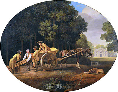 Labourers, 1781 | George Stubbs | Painting Reproduction