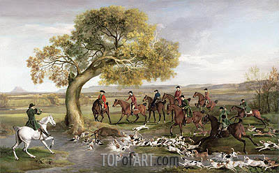 The Grosvenor Hunt, 1762 | George Stubbs | Painting Reproduction