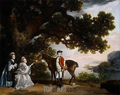 Captain Samuel Sharpe Pocklington with His Wife, Pleasance, and possibly His Sister, Frances, 1769   George Stubbs   Painting Reproduction