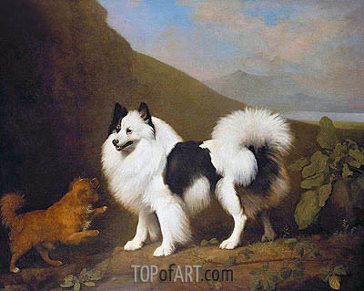 Fino and Tiny, 1791   George Stubbs   Painting Reproduction
