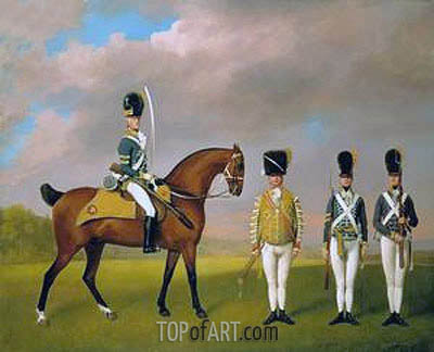 Soldiers of the 10th Light Dragoons, 1793 | George Stubbs | Painting Reproduction
