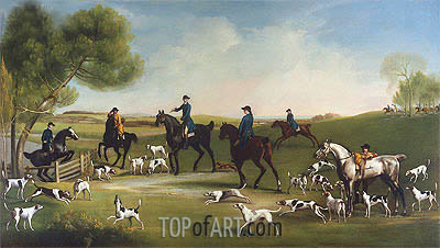 The Duke of Richmond with the Charlton Hunt, c.1859/60 | George Stubbs | Gemälde Reproduktion