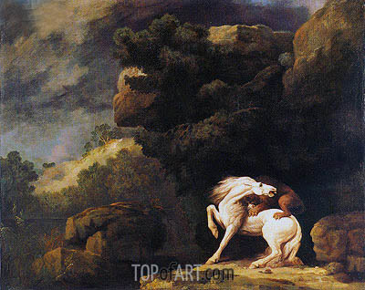 Horse and Lion, 1770   George Stubbs   Painting Reproduction