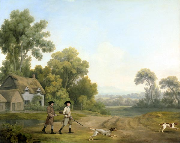 Two Gentlemen Going a Shooting, 1768 | George Stubbs | Gemälde Reproduktion