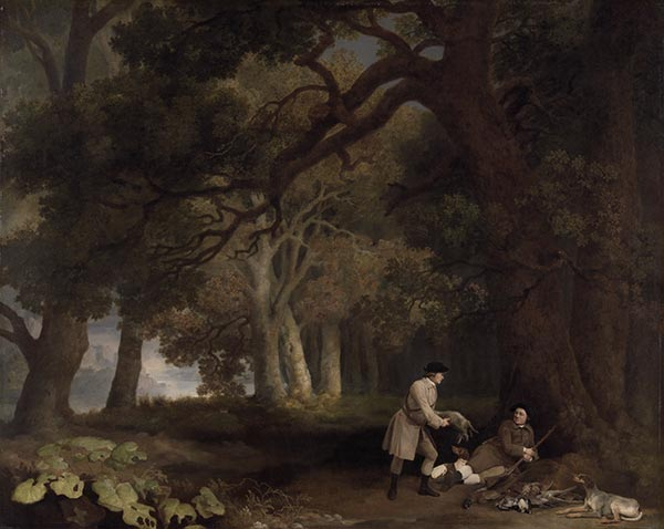 A Repose after Shooting, 1770 | George Stubbs | Painting Reproduction