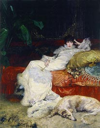 Portrait of Sarah Bernhardt, 1876 by Georges Jules Victor Clairin | Painting Reproduction