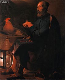 St Peter Repentant | Georges de La Tour | Painting Reproduction