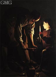 St. Joseph, the Carpenter | Georges de La Tour | Painting Reproduction