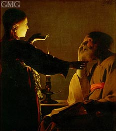 Saint Joseph and the Angel (The Dream of St. Joseph) | Georges de La Tour | Painting Reproduction