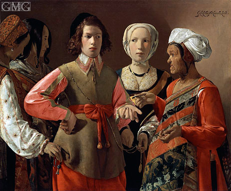 The Fortune Teller, c.1635 | Georges de La Tour | Painting Reproduction