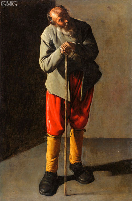 Old Man, c.1618/19 | Georges de La Tour | Painting Reproduction