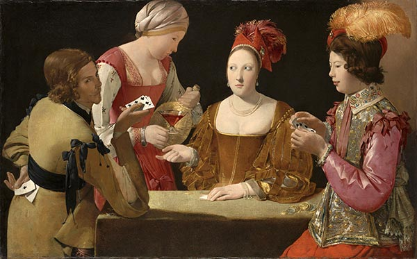 The Cheat with the Ace of Clubs, c.1630/34 | Georges de La Tour | Gemälde Reproduktion
