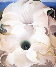 Two Jimson Weeds | O'Keeffe | Painting Reproduction