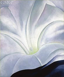 Morning Glory with Black | O'Keeffe | Painting Reproduction