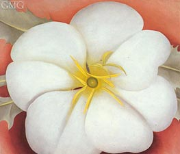 White Flower on Red Earth I, 1943 by O'Keeffe | Painting Reproduction