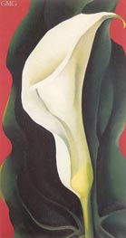 Single Lily with Red, 1928 by O'Keeffe | Painting Reproduction
