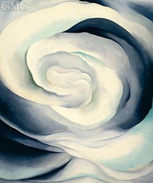 Abstraction, White Rose II, 1927 by O'Keeffe | Painting Reproduction