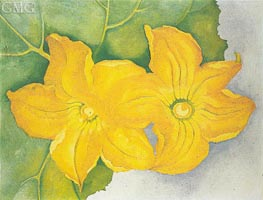 Squash Flowers I, 1925 by O'Keeffe | Painting Reproduction