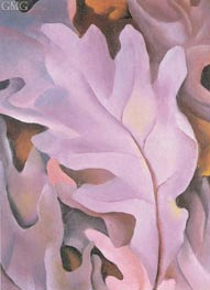 Purple Leaves | O'Keeffe | Painting Reproduction