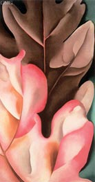 Oak Leaves - Pink and Gray | O'Keeffe | Painting Reproduction