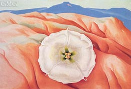Datura and Pedernal | O'Keeffe | Painting Reproduction