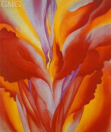 Red Canna, 1926 by O'Keeffe | Painting Reproduction