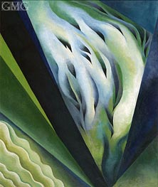 Blue and Green Music, 1919 by O'Keeffe | Painting Reproduction