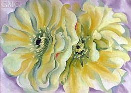 Yellow Cactus Flowers | O'Keeffe | Painting Reproduction