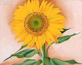A Sunflower from Maggie | O'Keeffe | Painting Reproduction