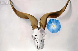 Ram's Head, Blue Morning Glory, 1938 by O'Keeffe | Painting Reproduction