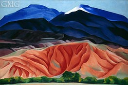 Black Mesa Landscape, New Mexico (Out Back of Marie's II), 1930 by O'Keeffe | Painting Reproduction