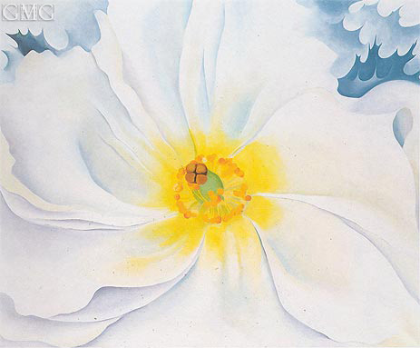 White Flower, 1929 | O'Keeffe | Painting Reproduction