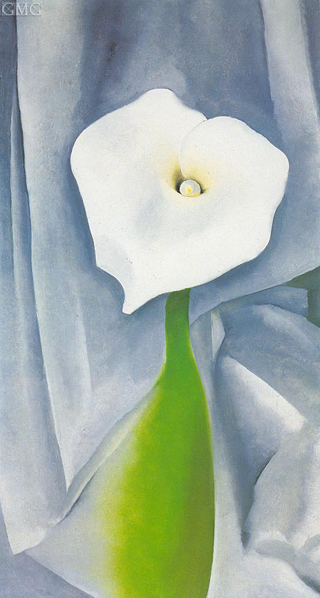 Calla Lilly on Grey, 1928 | O'Keeffe | Painting Reproduction