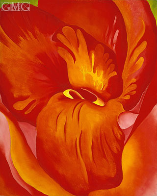 Canna Red and Orange, 1926 | O'Keeffe | Painting Reproduction