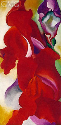 Red Snapdragons, undated | O'Keeffe | Painting Reproduction