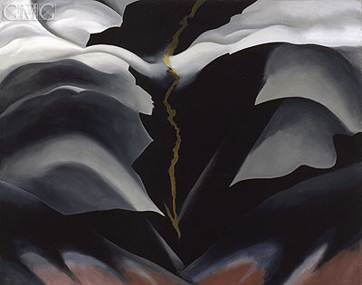 Black Place II, 1944 | O'Keeffe | Painting Reproduction