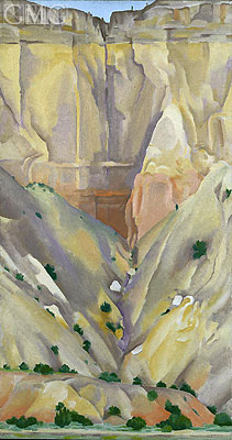 Dry Waterfall (Cliffs Beyond Abiquiu - New Mexico), 1943 | O'Keeffe | Painting Reproduction