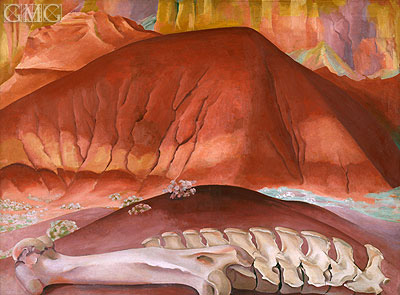 Red Hills and Bones, 1941 | O'Keeffe | Painting Reproduction
