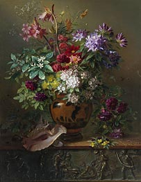Still Life with Flowers in a Greek Vase: Allegory of Spring, 1817 by Georgius van Os | Painting Reproduction