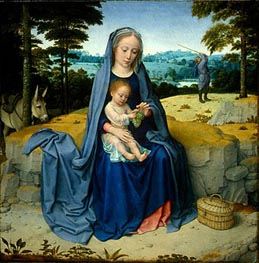 The Rest on the Flight into Egypt | Gerard David | Painting Reproduction