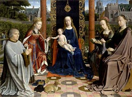 The Virgin and Child with Saints and Donor | Gerard David | Painting Reproduction