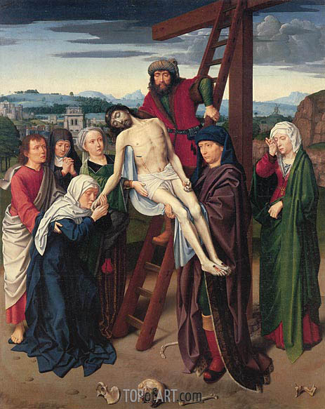 The Deposition, c.1510/15 | Gerard David | Gemälde Reproduktion