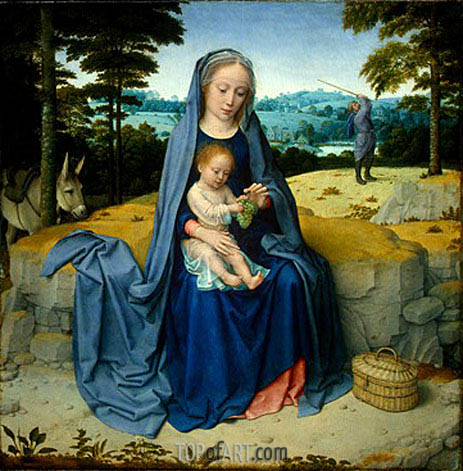 The Rest on the Flight into Egypt, c.1510 | Gerard David | Gemälde Reproduktion