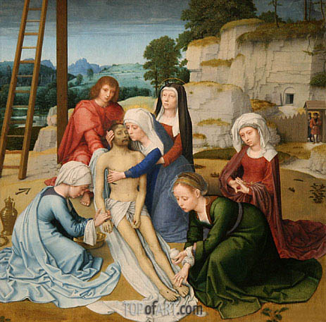 Lamentation (Deposition), c.1515/23 | Gerard David | Painting Reproduction